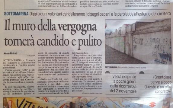 muro della vergona gazzettino 24 ottobre 2015